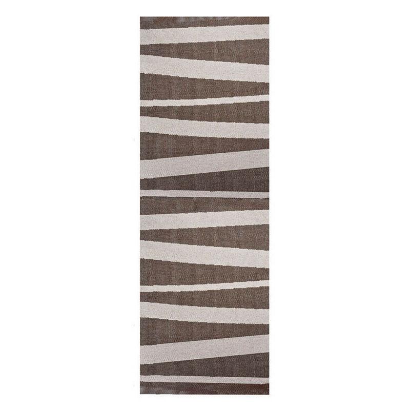 tapis de couloir are beige et brun sofie sjostrom design