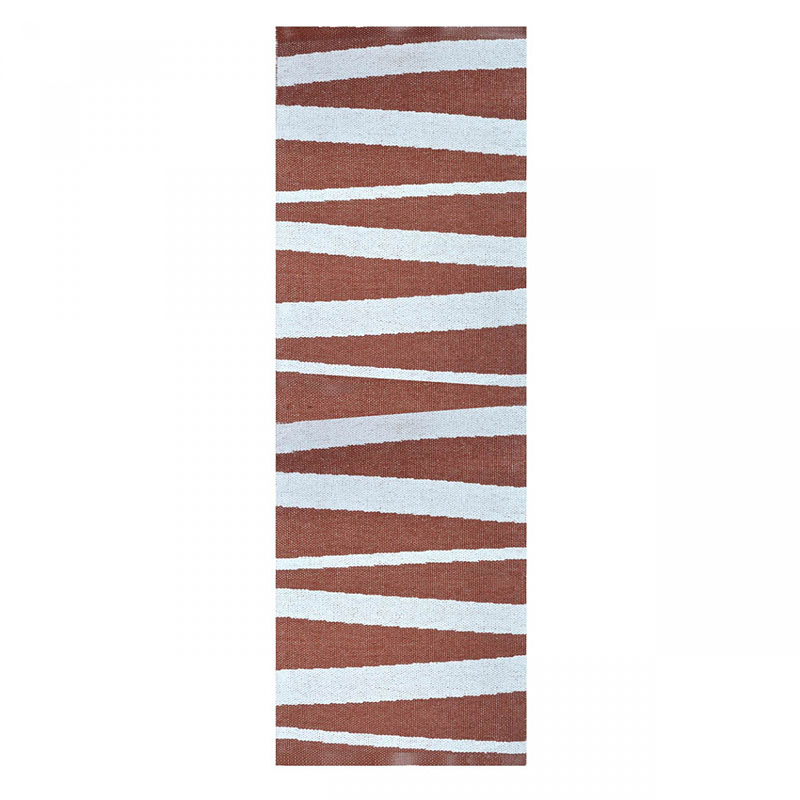 tapis de couloir are rayé choco et blanc sofie sjostrom design