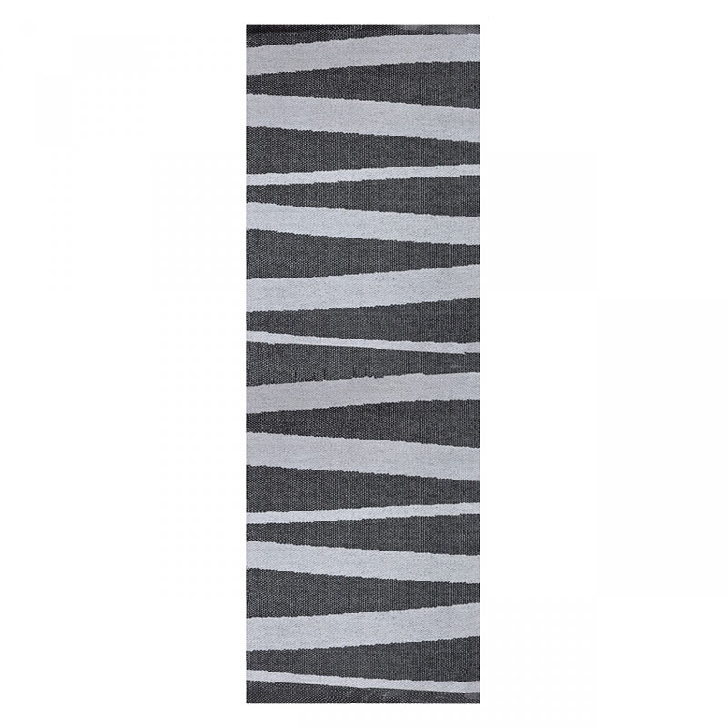 tapis de couloir are gris et noir sofie sjostrom design 70x100. Black Bedroom Furniture Sets. Home Design Ideas