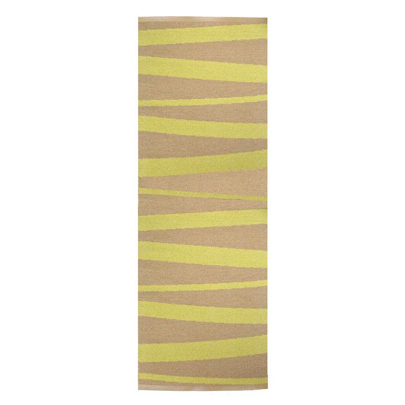 tapis de couloir rayé ocre et jaune are sofie sjostrom design