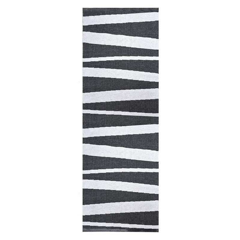 tapis de couloir rayé noir et blanc sofie sjostrom design are