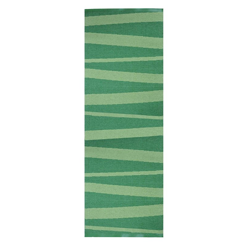 tapis de couloir design are zébré vert - sofie sjostrom