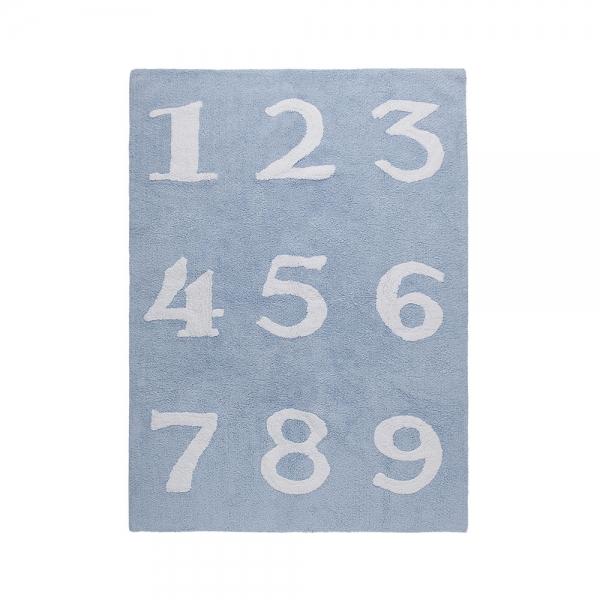 tapis enfant numeros bleu lorena canals
