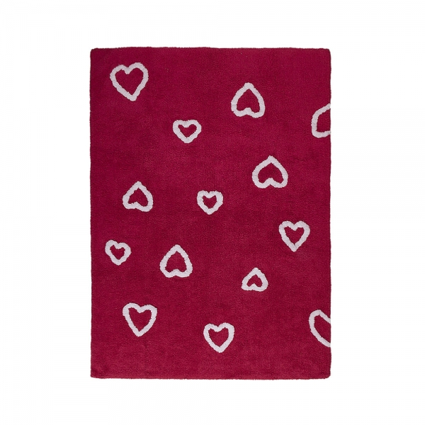tapis enfant corazones rouge lorena canals 120x160. Black Bedroom Furniture Sets. Home Design Ideas