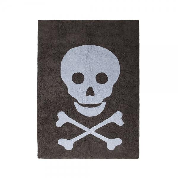 tapis enfant skull dark gris et bleu lorena canals 120x160. Black Bedroom Furniture Sets. Home Design Ideas