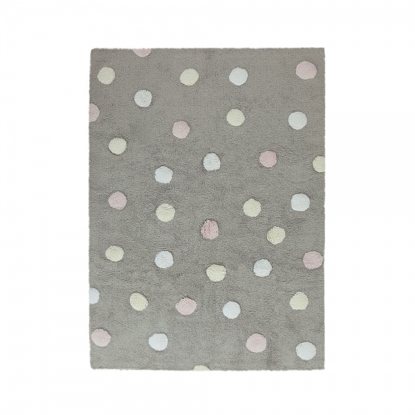 tapis enfant topos tricolor gris et rose lorena canals 120x160. Black Bedroom Furniture Sets. Home Design Ideas