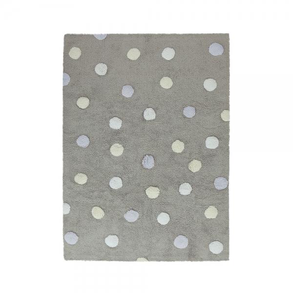 tapis enfant topos tricolor gris lorena canals