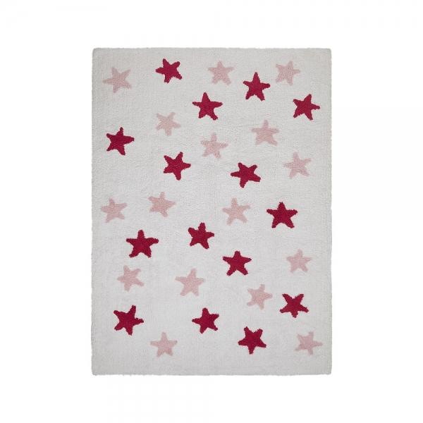 tapis enfant messy stars fuchsia lorena canals