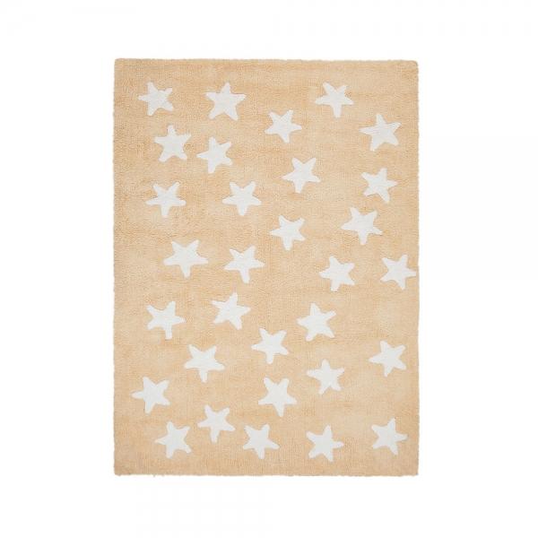 tapis enfant messy stars jaune lorena canals