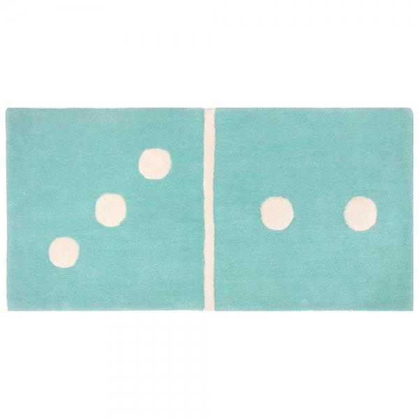 tapis enfant bleu domino 3 2 1 pied sur terre 60x120. Black Bedroom Furniture Sets. Home Design Ideas