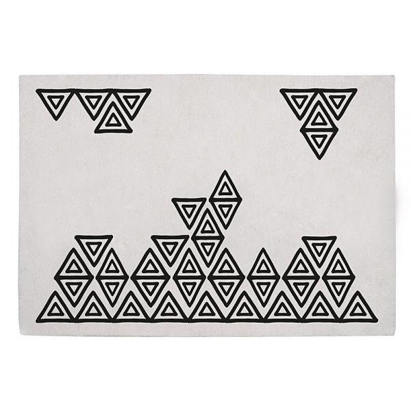 tapis enfant boho chic noir et blanc lilipinso