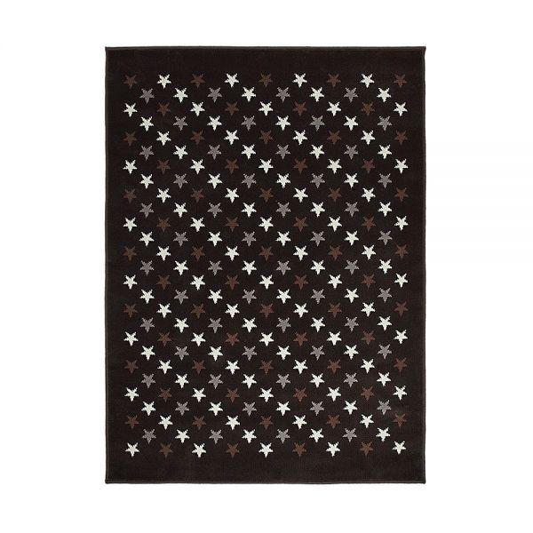 tapis enfant estrellitas marron et gris lorena canals