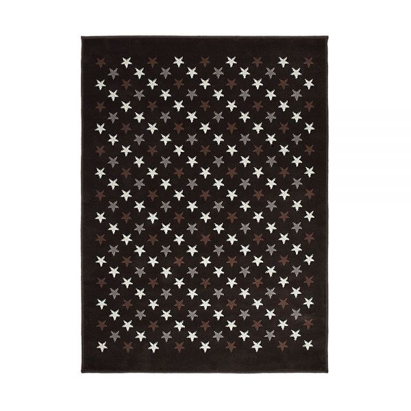 tapis enfant marron et gris lorena canals estrellitas 140x200. Black Bedroom Furniture Sets. Home Design Ideas