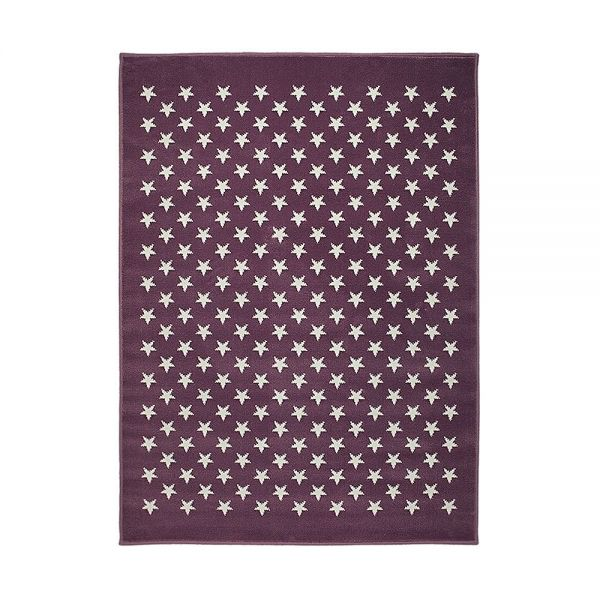 tapis enfant estrellitas violet lorena canals 120x160. Black Bedroom Furniture Sets. Home Design Ideas