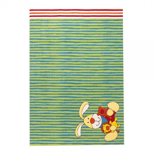 tapis enfant vert semmel bunny sigikid