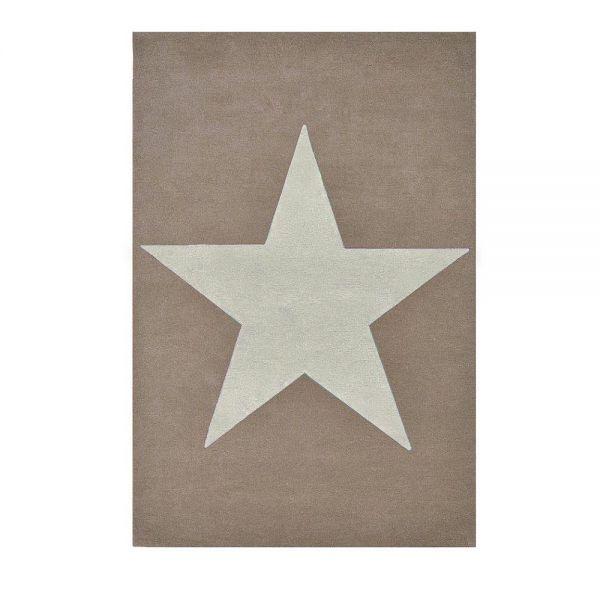 tapis enfant en laine star beige toile blanche lorena canals 140x200. Black Bedroom Furniture Sets. Home Design Ideas