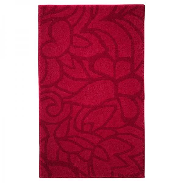 tapis de bain flower shower rouge esprit home