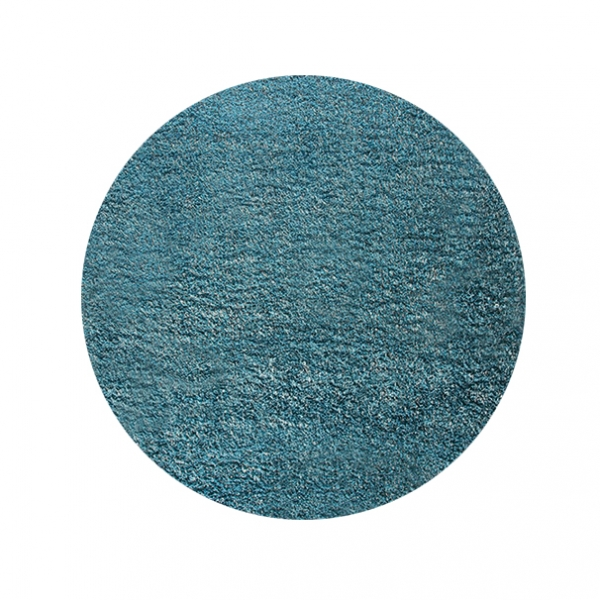 tapis shaggy rond cosy glamour bleu esprit home 120x120. Black Bedroom Furniture Sets. Home Design Ideas