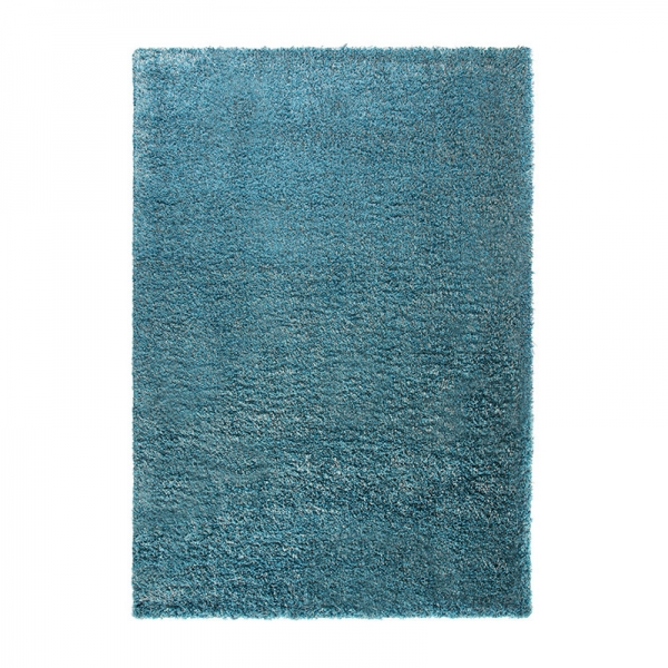 tapis shaggy cosy glamour bleu esprit home