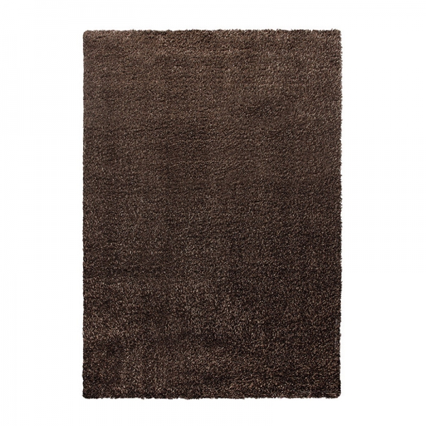 tapis cosy glamour marron shaggy esprit home