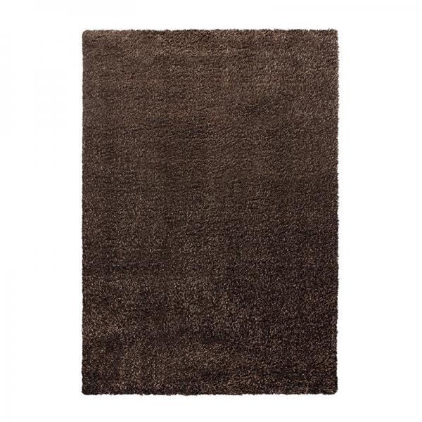 tapis esprit home shaggy cosy glamour marron