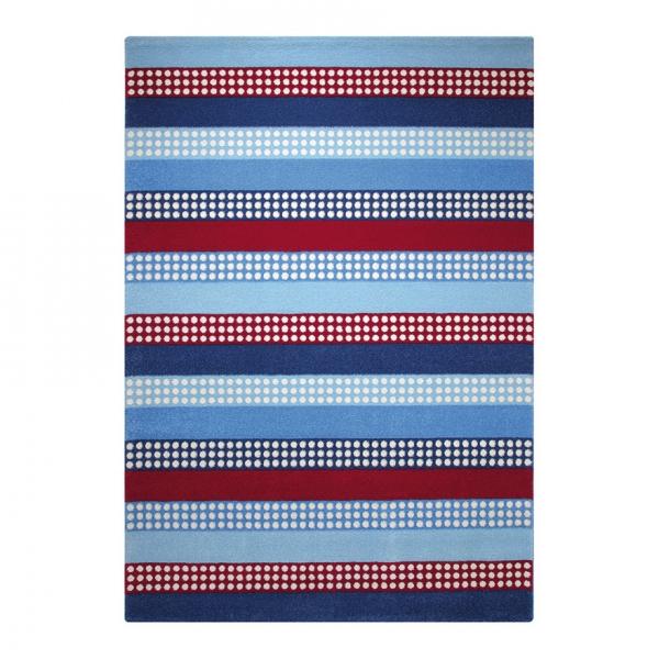 tapis space stripes bleu esprit home