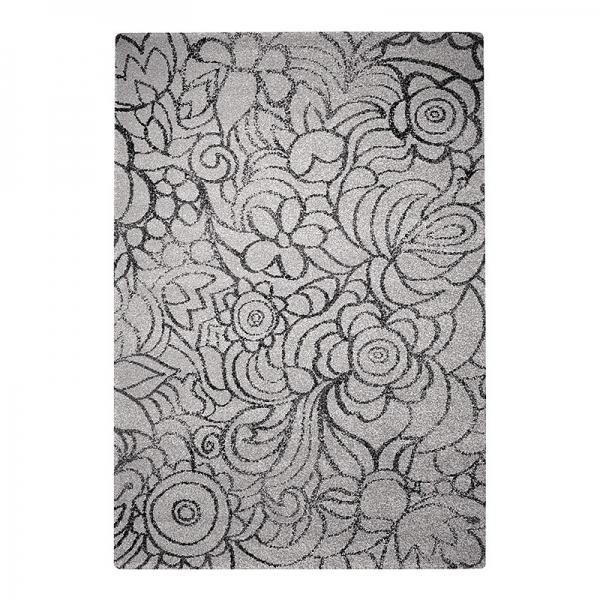 tapis madison esprit home gris motif floral
