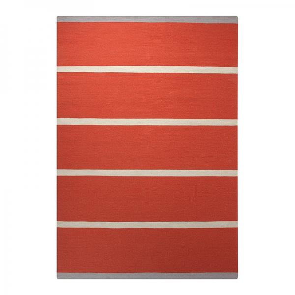 tapis esprit home simple stripe orange