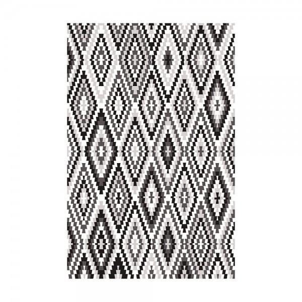 tapis esprit home noir et blanc fresh kelim