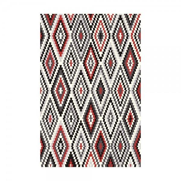 tapis fresh kelim rouge - esprit home