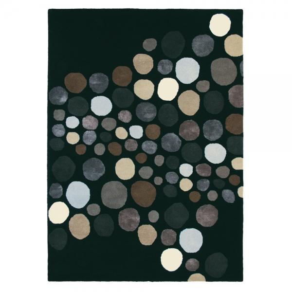 tapis noir brink & campman estella carnaval pure laine
