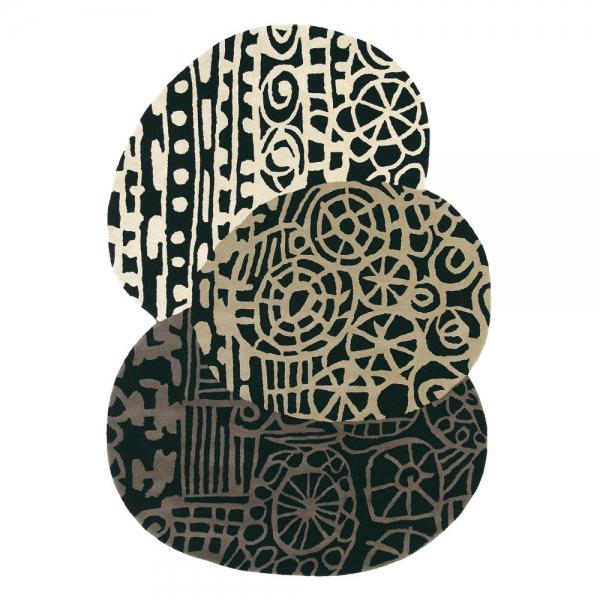 tapis design estella fossil marron brink & campman