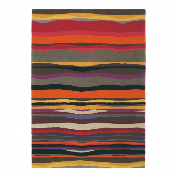 tapis brink & campman rouge pure laine estella summer