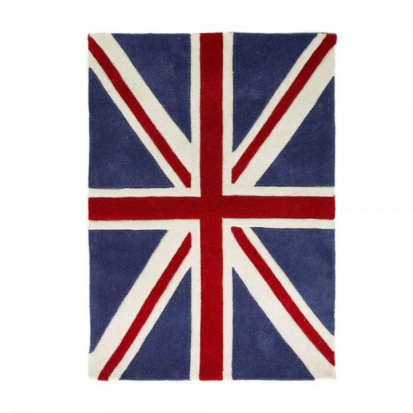 tapis union jack bleu mini jack flair rugs 70x100. Black Bedroom Furniture Sets. Home Design Ideas