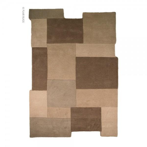 tapis flair rugs collage marron