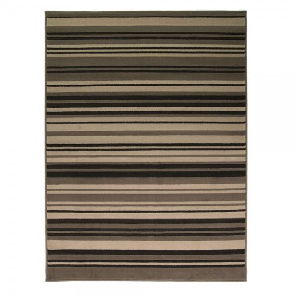 tapis flair rugs canterbury noir et gris