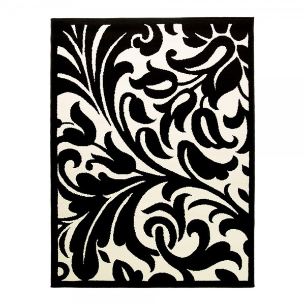 tapis noir et blanc warwick flair rugs 180x250. Black Bedroom Furniture Sets. Home Design Ideas
