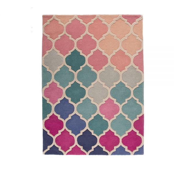 tapis bleu et rose rosella flair rugs
