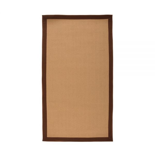 tapis antidérapant naturel et marron herringbone flair rugs