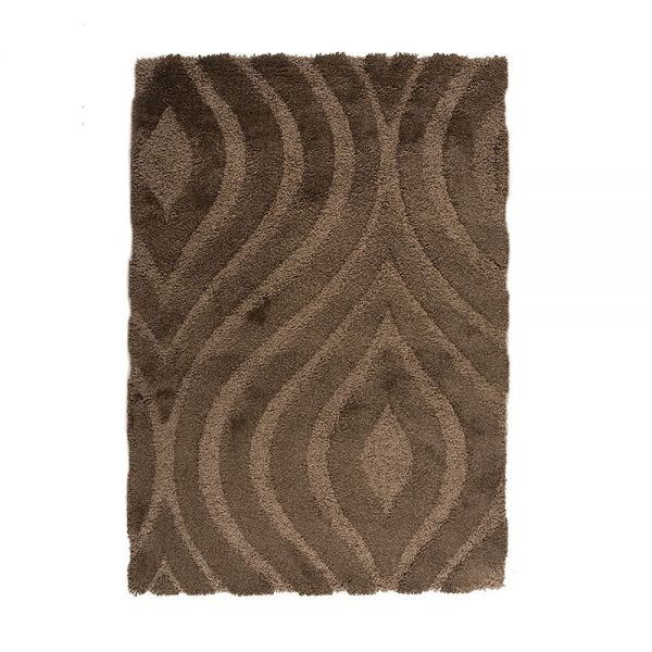 Tapis shaggy gris jet flair rugs 120x170 - Tapis shaggy gris perle ...
