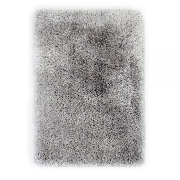 tapis shaggy tufté main argent pearl flair rugs