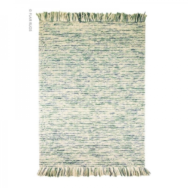 tapis laine tissé main bleu maya flair rugs