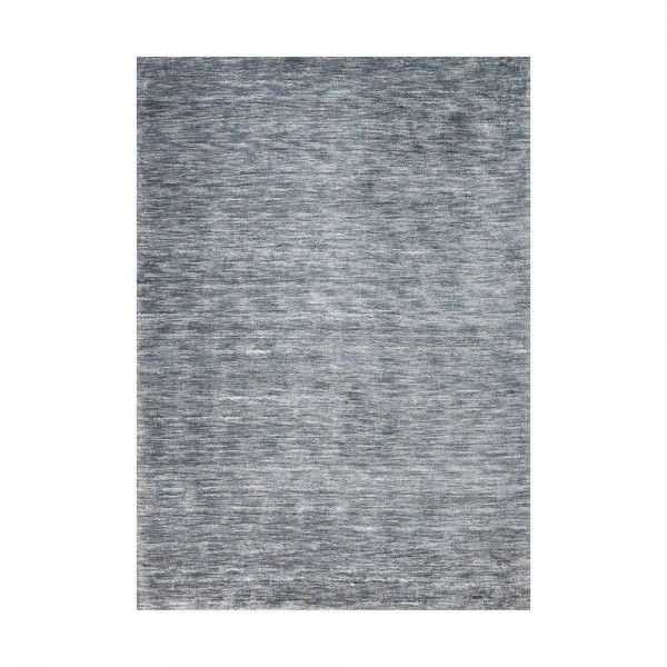 tapis viscose tiss main bleu transform ligne pure 140x200. Black Bedroom Furniture Sets. Home Design Ideas