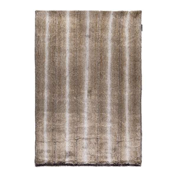 tapis fausse fourrure marron feel ligne pure