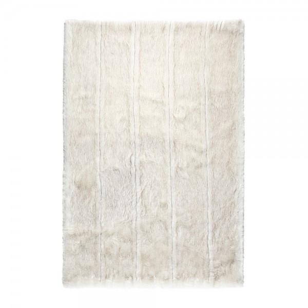 tapis feel blanc fausse fourrure ligne pure 190x300. Black Bedroom Furniture Sets. Home Design Ideas