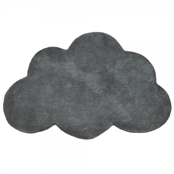 tapis enfant coton nuage gris anthracite lilipinso 64x100. Black Bedroom Furniture Sets. Home Design Ideas