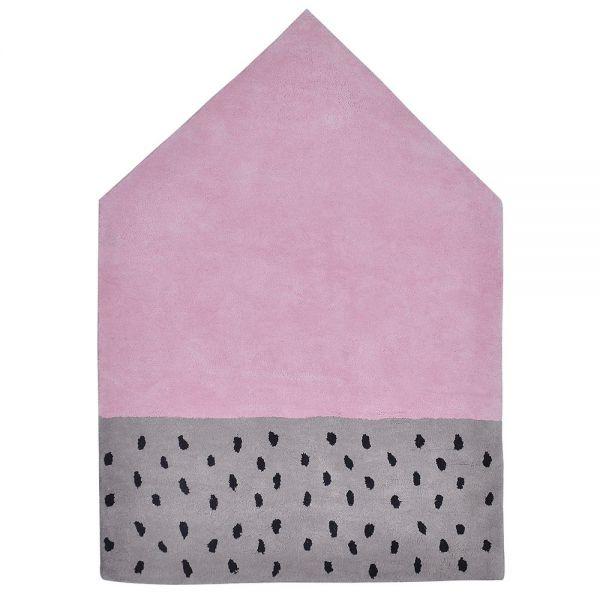 tapis enfant maison rose lilipinso