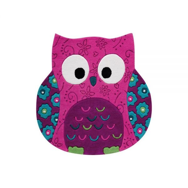 tapis enfant littel owl rose smart kids