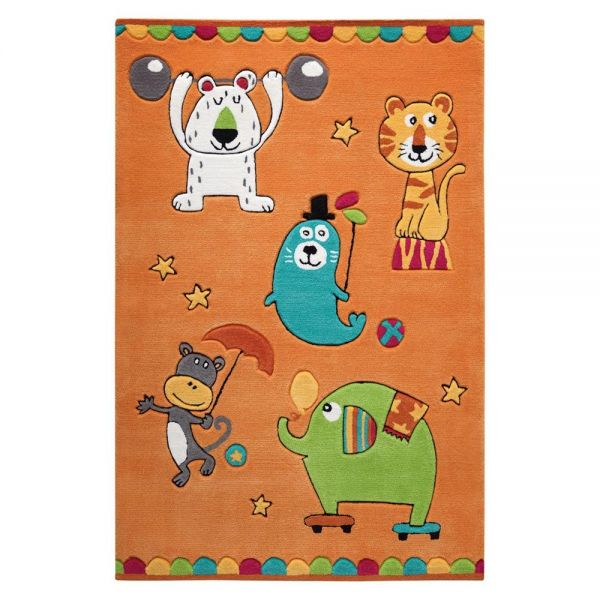 tapis smart kids orange enfant little artists