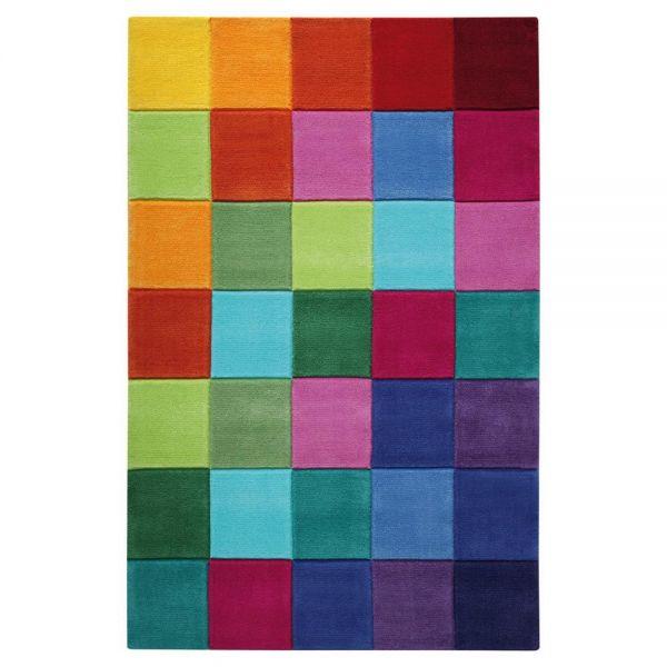 tapis multicolore smart kids enfant tufté main smart square